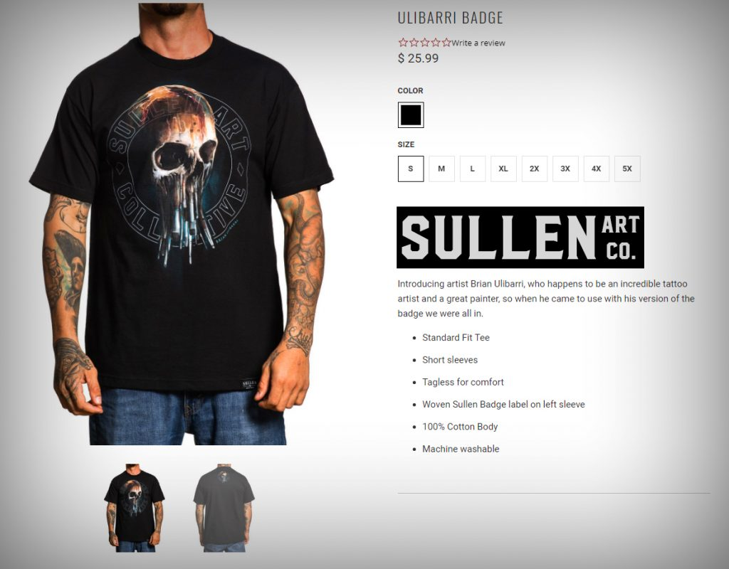 THE SHIRTS ARE IN!! The Ulibarri Sullen Badge Shirts are available for sale at my Gallery in Santa Fe NM The Ulibarri Ink & Art Galleryand on the Sullen Clothing Website