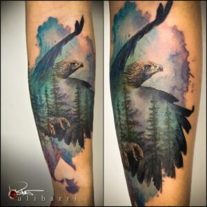 Tattoo by Brian Ulibarri at the Ulibarri Ink & Art Gallery in Santa Fe New Mexico he also Tattoos in Denver Colorado and Albuquerque New Mexico and various Tattoo Conventions. Follow him on social media to see his travel dates.